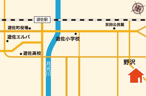 池田建築工務店までの地図